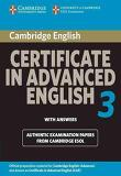 Cambridge Certificate in Advanced English 3 for Updated Exam Student's Book With Answers