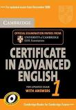Cambridge Certificate in Advanced English 1 with Answers: Official Examination Papers from University of Cambridge ESOL Examinations (Updated) (Cambridge Books for Cambridge Exams)