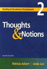 Reading & Vocabulary development. 2 : Thoughts & Notions